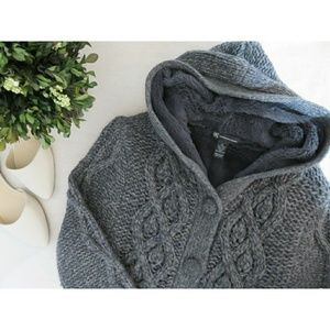 INC Trending Sherpa Cable Knit Sweater Coat Fall